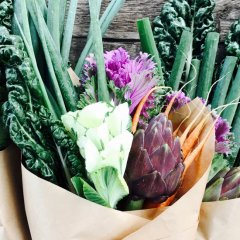 Gift someone a bouquet they can bite into from Nourish Posy Co.