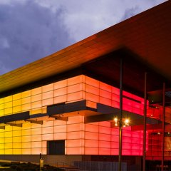 James Turrell's Night Life installation lights up GOMA in brilliant technicolour