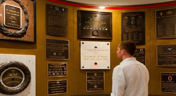 Embark on an historical journey inside the reopened Anzac Square Memorial Galleries