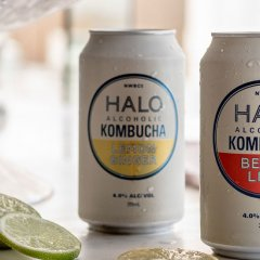 Sip (almost) guilt-free with HALO's low-sugar, low-carb spiked kombucha